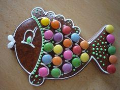 Adventní rybka / Zboží prodejce bubulina   Fler.cz Advent, Gingerbread, Ornament, Decoration, Ginger Beard, Ornaments