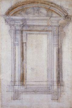 Michelangelo Buonarroti | Design for a window, 16th Century