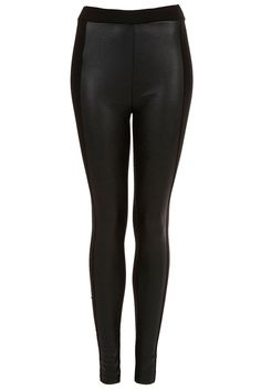 black leather-look leggings, want a pair of these for when I lose weight!