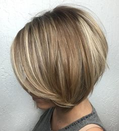 Brown+Blonde+Balayage+Bob