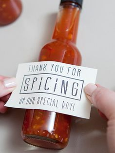 It might be neat to have Linda and Ken give you spice packets and we could put notes on them. I am sure they would have plenty.