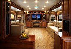 Luxurious RV living room. http://www.bellaterrarvresort.com