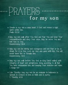 Yes I pray this prayer for my precious son Isaac.In Jesus Name Amen! Prayer Scriptures, Bible Prayers, Bible Verses For Mothers, Bible Verses About Children, Adult Children Quotes, Short Prayers, Power Of Prayer, My Prayer, Son Quotes