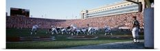 Poster Print Wall Art Print entitled Football Game Soldier Field Chicago IL, None