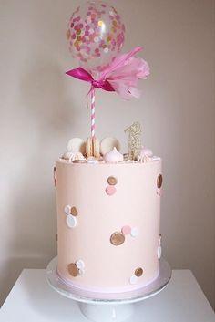 Creative Birthday Cake Ideas for Girls - lindas tortas - Creative Birthday Cakes, First Birthday Cakes, Birthday Cake Girls, Baby Girl Cakes, Cake Baby, Baby Boy, Bolo Cake, Girly Cakes, Balloon Cake