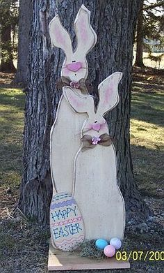 Easter wood Crafts Rabbit Cute Bunny is part of Easter outdoor - Welcome to Office Furniture, in this moment I'm going to teach you about Easter wood Crafts Rabbit Cute Bunny Spring Projects, Easter Projects, Easter Crafts For Kids, Spring Crafts, Easter Ideas, Easter Decor, Primitive Patterns, Wood Patterns, Primitive Crafts