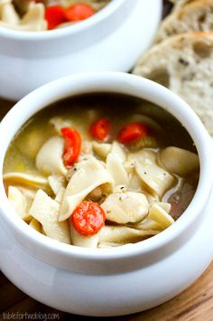 Chicken Noodle Soup » Table for Two, when you're under the weather.