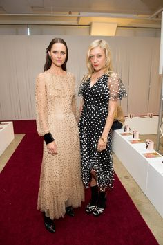 (L-R) Tasha Tilberg and Chloe Sevigny attend the Jill Stuart fashion show during New York Fashion Week on September 9, 2017 in New York City.