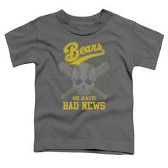 BAD NEWS BEARS ALWAYS BAD NEWS Toddler Short Sleeve T-Shirt