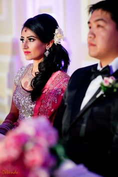 LOS ANGELES INDIAN WEDDING | BEAUTIFUL INDIAN SOUTH ASIAN BRIDE MAKEUP AND HAIR STYLE