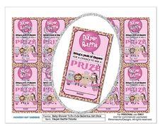 Monkey Tu Tu Cute Ballerina Baby Shower Diaper Raffle by monkeyhut, $4.00