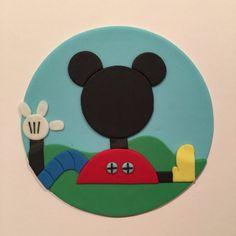 Torta de cumpleaños-Fondant de Mickey Mouse Clubhouse