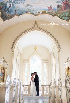 Groom kissing Bride in the Chapel Trump Winery Wedding Photographer  Bernadette + Eric Married
