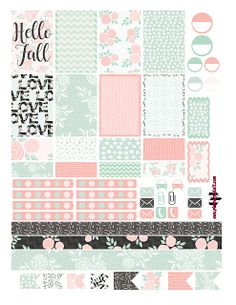 Hello Fall Floral Free Planner Sticker Printable
