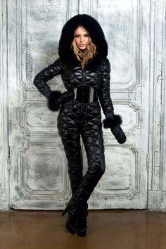 Black down suit Catsuit, Down Suit, Winter Suit, Black Down, Puffy Jacket, Ski Fashion, Snow Pants, Outdoor Woman, Under Armour Women