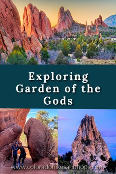 Visiting Garden of the Gods in Colorado by Colorado Hikes and Hops -- Here's how to see this iconic beautiful park in Colorado Springs - this emerging worldwide destination's number one attraction! Did you know you can hike an entire loop around Garden of the Gods? Don't miss Siamese Twins, Kissing Camels, Three Graces, and more. Usa Places To Visit, Visit Usa, Mountain City, Winter Mountain, Mountain Vacations, Dream Vacations, Beautiful Park, Get Outdoors, Travel With Kids