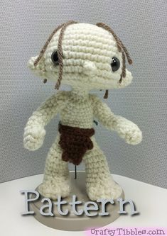 CROCHET - HOBBIT - LORD OF THE RINGS - LOTR - $$ -Gollum Smeagol Crochet Amigurumi Pattern