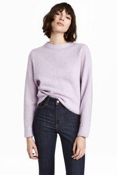 Mohair-blend jumper - Light purple - Ladies | H&M GB 1