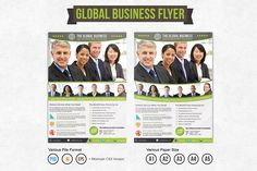 Global Business Flyer Template by Broewnis Labs on @creativemarket