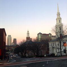 Providence, Rhode Island at sunrise