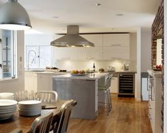 Winchester Kitchen - contemporary - kitchen - boston - Venegas and Company custom made white look like ikea