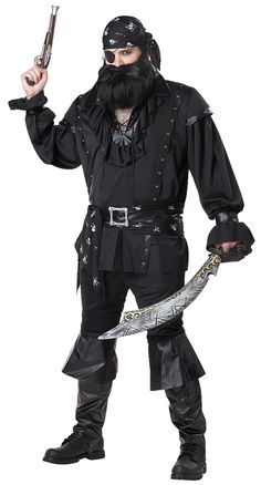 Plundering Pirate Costume Mens Plus 48-52