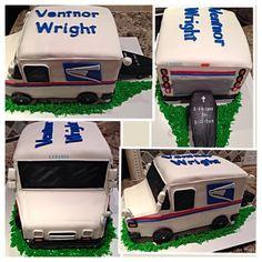 Mail Truck Cake