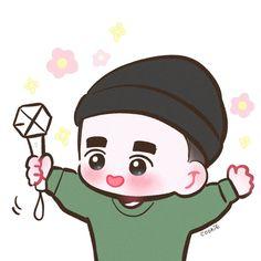 Kyungsoo, Exploration dot in Seoul day 1 Kyungsoo, Chanbaek, Exo Cartoon, Exo Stickers, Exo Anime, Yoonmin Fanart, Exo Lockscreen, Exo Fan Art, Exo Do