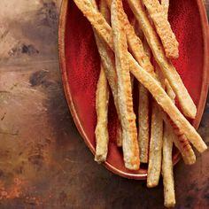 Cardamom-Cheddar Straws // More Tasty Cheese Treats: http://www.foodandwine.com/slideshows/cheese #foodandwine