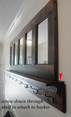 Coat Rack (could be used for a mantle shelf as well)
