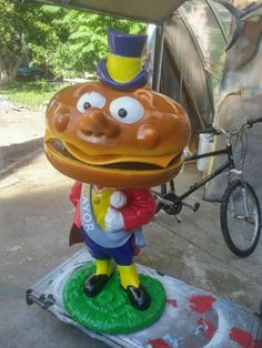 McDonalds Playland Mayor McCheese Statue « Obnoxious Antiques