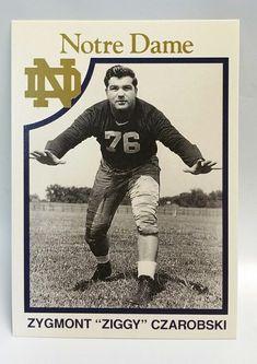 0620ea0c3cf Zygmont Ziggy Czarobski 1942-1947 Notre Dame Football Trading Card Fightin  Irish