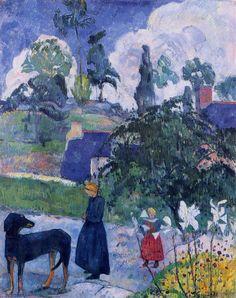 Entre los lirios de por Paul Gauguin Medio: óleo sobre lienzo