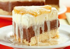Receita de Torta gelada de abacaxi e chocolate - Torta doce - Dificuldade: Fácil - Calorias: 322 por porção