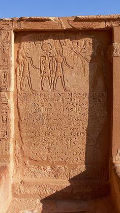 Hieroglyphs. Abu Simbel temple, Nubia, Egypt