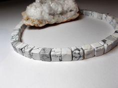 Edelsteine - Magnesit Würfel Strang - ein Designerstück von…