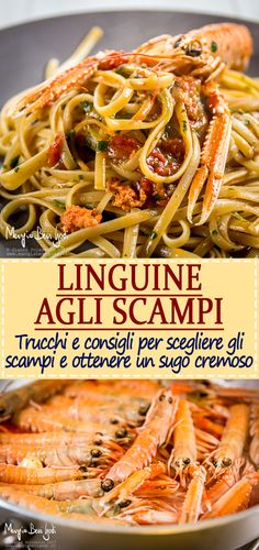 Linguine with scampi: the recipe, how to choose the scampi and how to get … – The World Yummy Pasta Recipes, No Salt Recipes, Wine Recipes, Pasta Fettucine, Pasta Scampi, Fish Pasta, Italian Pasta, Buffet, Pasta Dishes