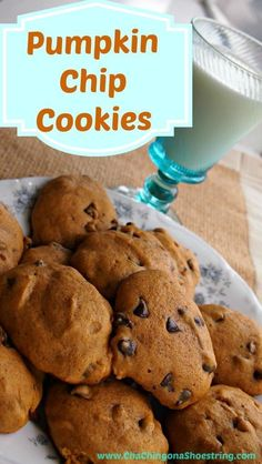 Pumpkin Chocolate Chip Cookies Recipe: A quick and easy family fall tradition! #pumpkin#fall#cookies