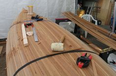 How to build a Cedar Strip Canoe Canoe Plans, Boat Plans, Kayak Boats, Canoe And Kayak, Canoeing, Kayaking, Wood Canoe, Boat Building Plans, Wooden Boats