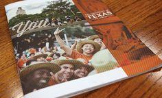 The University of Texas viewbook brochure by Hoyt Haffelder, via Behance
