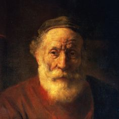 Portrait of an Old Man in Red by Rembrandt Harmensz van Rijn (detail)