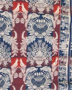 red...white and blue...Woven Coverlets, An American Story