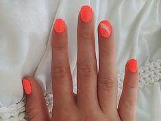 Short acrylic shellac nail design nail art feather bright summer nails