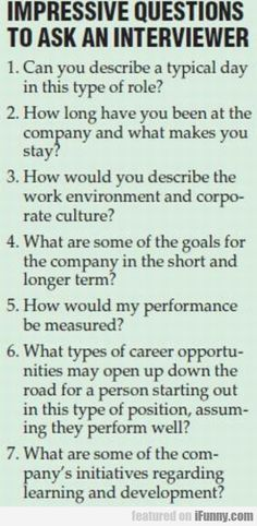 Impressive Questions To Ask