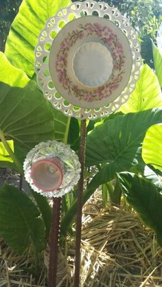 Upcycled glass flowers made by Tracy Feltus from Kapunda, SA