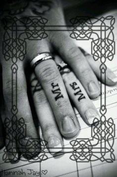 Wedding tattoo themarriedapp.com hearted <3