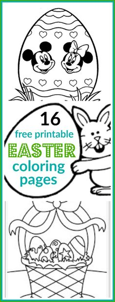 16 Free Printable Easter Coloring Pages for Kids