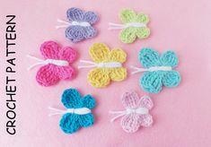 BUTTERFLY CROCHET PATTERN By Kerry Jayne Designs Crochet Butterfly pattern Crochet Applique pattern Butterfly embellishment pattern Pdf Usa