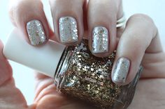 Essie LuxeEffects Swatches - Summit Of Style Bronze Glitter Nail Polish