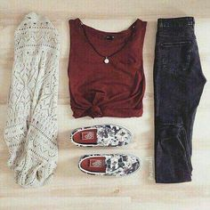 Fall Outfits ✯ Find more skirt outfits, mens clothing and clothing for teens, bridal Wear and sneakers outfits. And more what are the makeup items, suede booties womens and wedding bands for women. Look Fashion, Teen Fashion, Fashion Outfits, Womens Fashion, Urban Fashion, Fashion Clothes, Fashion Pics, Style Clothes, Fall Fashion